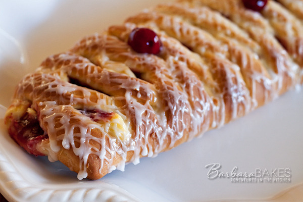 Cherry 'n Cheese Lattice Coffeecake Recipe