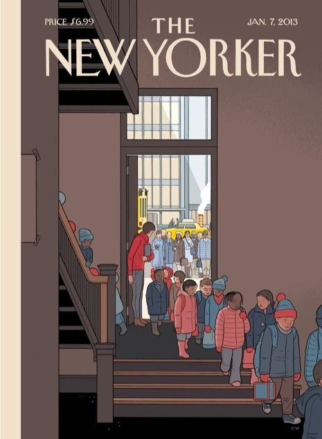 Year in Reading alumnus Chris Ware drew the cover of this week's New Yorker. (If you liked his latest, Building Stories, you might like reading our review.)