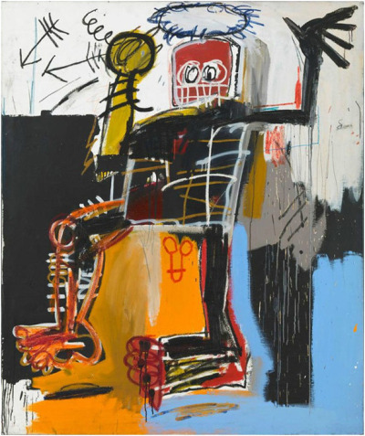 sepiabeauty:  i will definitely be going to this - love basquiat! JEAN-MICHEL BASQUIATGagosian Gallery, 555 W24th St., NYCIt's about 80% anger.—Jean-Michel BasquiatFeaturing over fifty works from public and private collections, the exhibition spans Basquiat's brief but meteoric career, which ended with his death at the age of tw