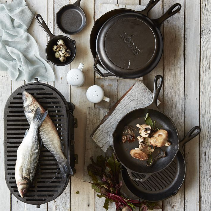 "Lodge Cookware In our visual journey through Tumblr, we bumped into this striking cookware brand called Lodge. The company history dates back to 1896, when it was founded somewhere in Tennessee's Appalachian Mountains. These guys don't just make iron; they make ""heirlooms that bring people together"" says their mantra. Lucky for us, we spotted some Lodge items on eBay. Step up your cooking game with these pieces. (Photo: Courtesy of The Black Workshop. Text by Jauretsi)"