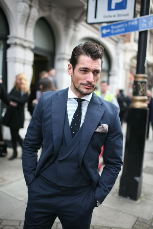 LFW - David Gandy Source: WWD