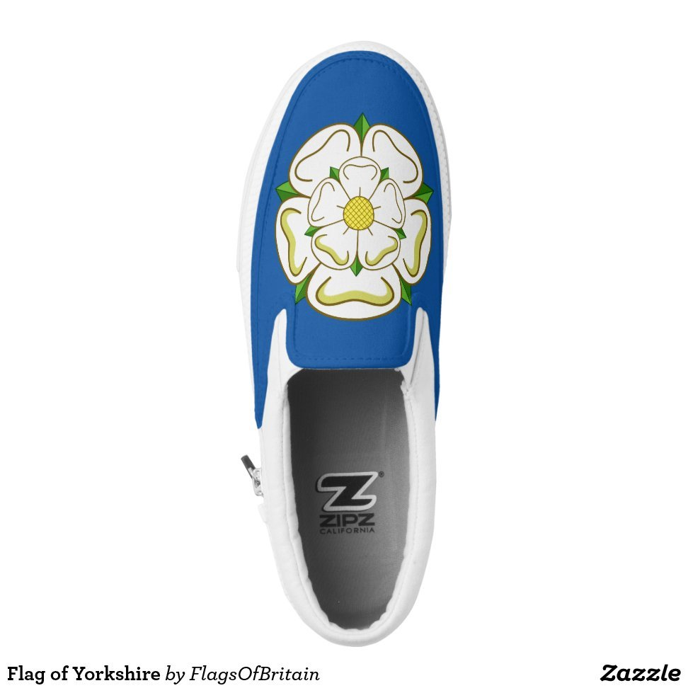 Flag of Yorkshire Slip-On Sneakers - Unique Canvas Shoes With Interchangeable Tops  External image  Buy This Design Here: Flag of Yorkshire Slip-On Sneakers Created by Fashion Designer: FlagsOfBritain Look sporty, stylish and elegant in a pair of unique custom sneakers! Each pair of custom Low Top ZIPZ Shoes is designed so you can fit your style to any wardrobe, mood, party or occasion. Fashionable sneakers for kids and adults, ZIPZ shoes give you a unique and personalized way to express yourself!Flag of Yorkshire Slip-On Sneakers Product Information - Unisex sizing: 4-13 Men's | 6-15 Women's - Material and fabric: Durable canvas tops, rubber soles - Buy multiple pairs! ZIPZ shoes are interchangeable, the top cover can be zipped on and off so you can easily switch up your style on the go - Rubber soles are manufactured with extra cushioned insoles and a specially designed arch support system to give your feet a comfortable and healthy fit - Quality you can trust: ZIPZ has been independently tested by SATRA for wear, use, and durability - Additional cost for designing on the tongue of the shoe - Flag of Yorkshire Slip-On Sneakers are printed in Santa Fe Springs, CA #sneakers#shoes#footwear#style#fashion#sports#fashionista#OOTD#streetwear#fashionblogger