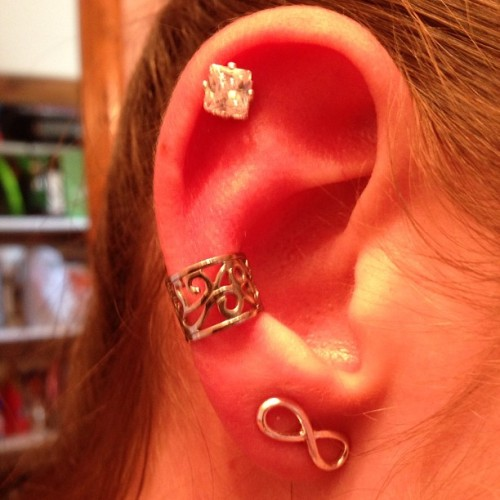#cartilage #earcuff #infinity #earrings