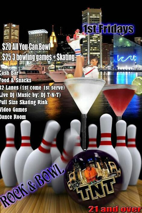 1st Fridays Rock and Bowl with DJ TNT at the new Shake and Bake! Going down tonight, May 3rd!