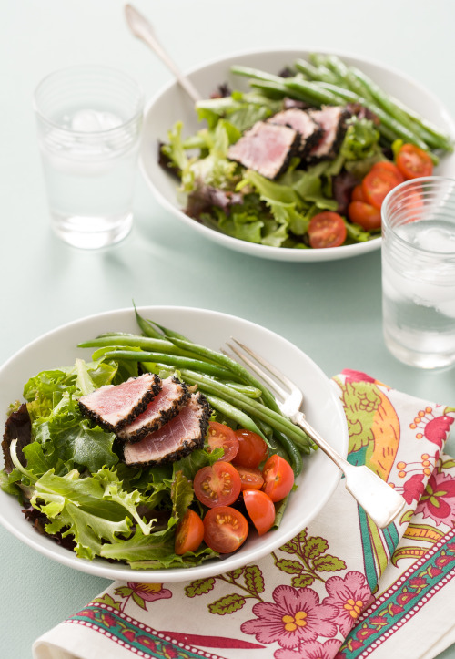 asian black sesame tuna salad: recipe here
