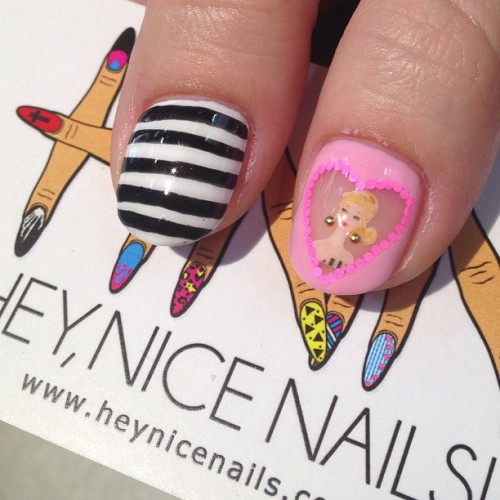 Barbie #nailart #lbc #gelnails #heynicenails  (at Hey Nice Nails)