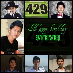 Happy birthday, Steveee! *</:)  Hope you have a blast! See you soon. ;) God bless! O:) 