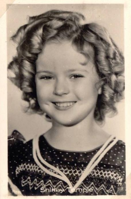 Shirley Temple, cigarette card, 1936.
