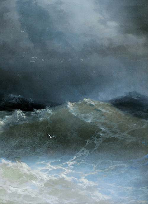 Ivan Aivazovsky, Waves (detail), 1849