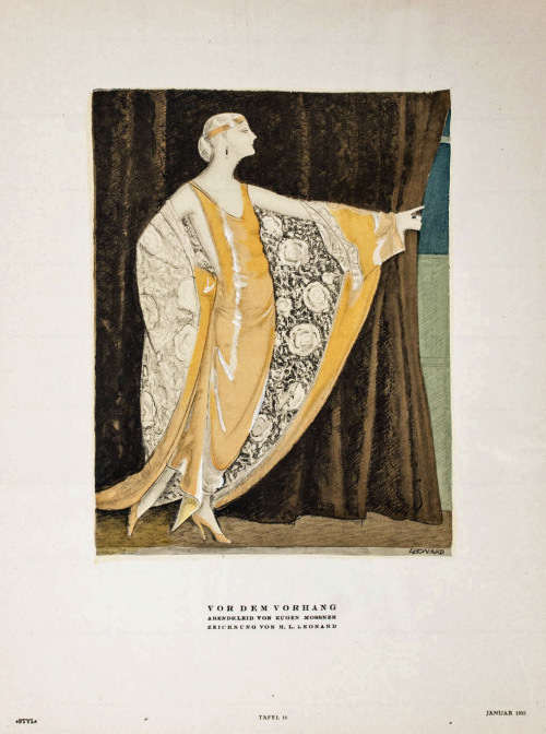 sydneyflapper:  Illustration by H L Leonard for Styl Magazine, 1922