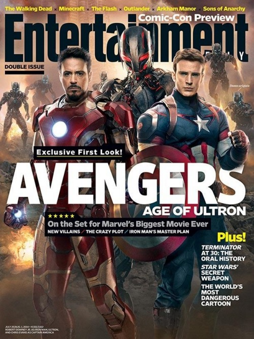 thefinalfive:  Ultron Revealed On Upcoming Issue of Entertainment Ultron, the main antagonist in Marvel's upcoming Avengers sequel, will be on the cover of an upcoming issue of Entertainment alongside Robert Downey Jr.'s Iron Man and Chris Evans' Captain America. Check it out! - Drewtos Facebook // Twitter // Podomatic