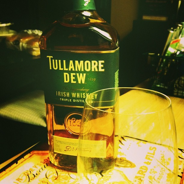 Good evening, beautiful. #tullamoredew #irish #whiskey (at Casa de Puch Redux)