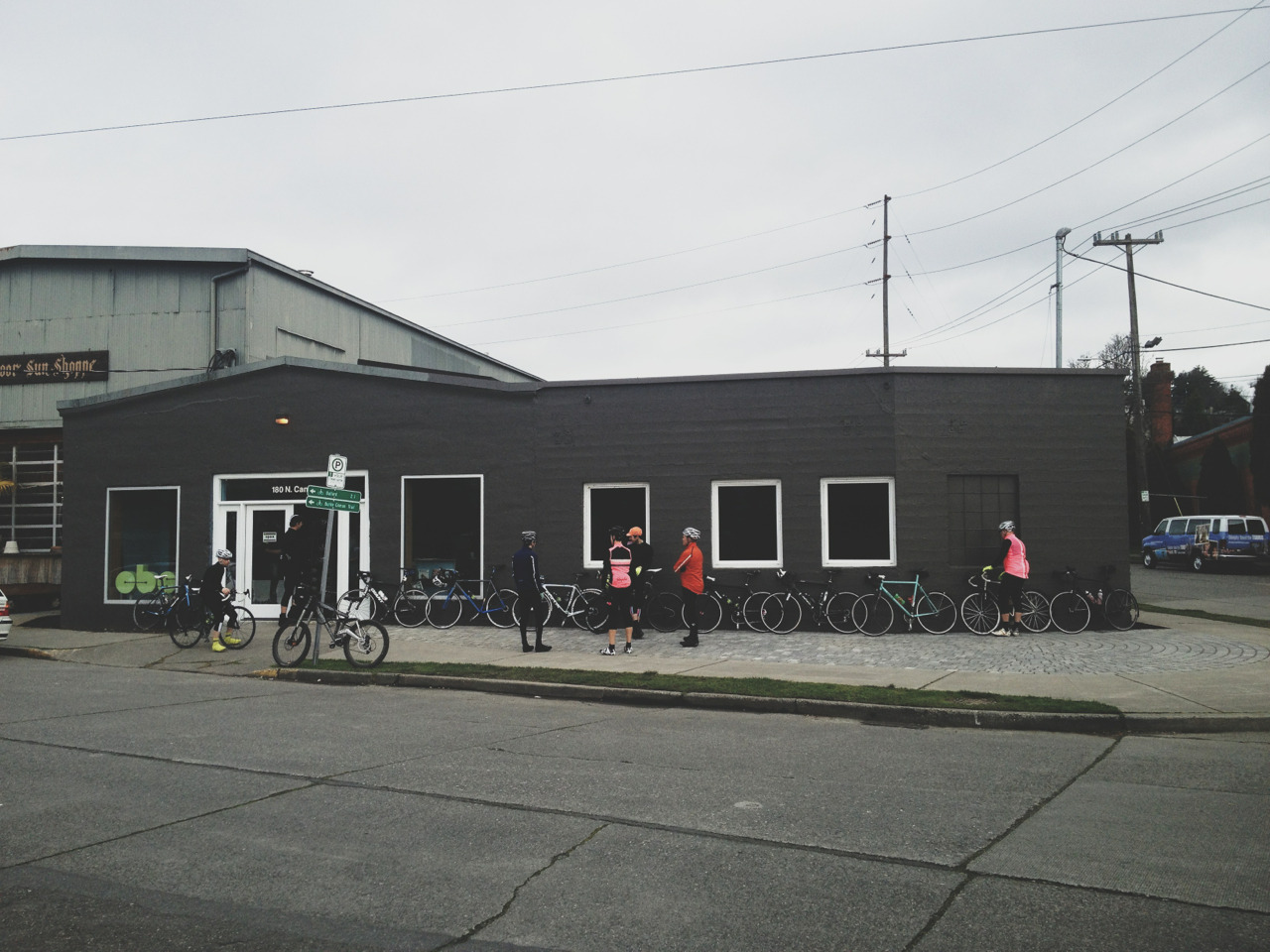 Great turnout for the Saturday @cbsfremont ride from the new location.