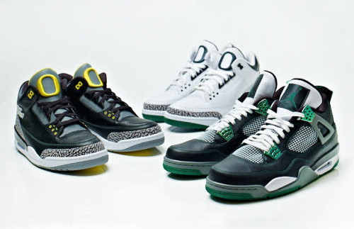 "AIR JORDAN 3 & 4 ""Oregon Ducks"" Collection"