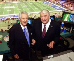 siphotos:  Pat Summerall and John Madden pose together before Super Bowl XXXVI played on Feb. 3, 2002. Summerall died on Tuesday at the age of 82. (Ric Feld/AP) GALLERY: Classic Photos of Pat Summerall