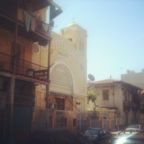 Three distinct architectural styles on the very same street - Port Said, Egypt
