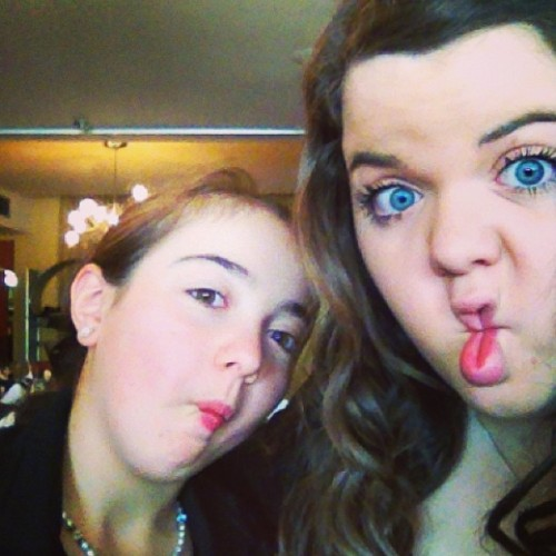 Silly faces with my mini me!! #fishface #blueeyes #cutie #loveher #e.b #minime
