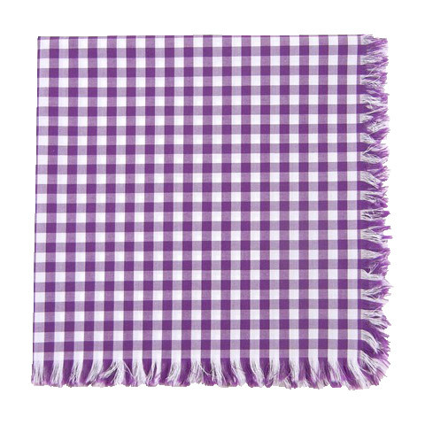 I suppose this is the opposite of hand-rolled edges.  New fringed gingham from the tie bar, $8 of course.