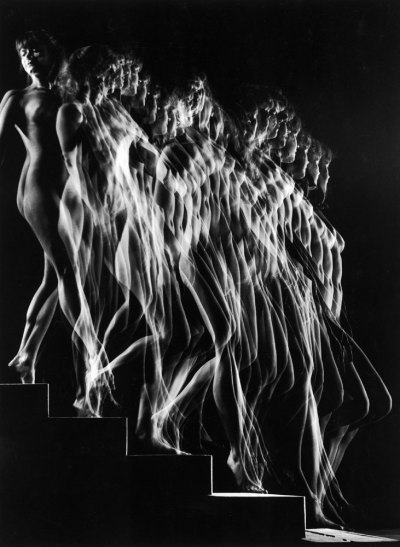 Gjon Mili - A Nude Descends a Staircase, 1942 See more of Gjon Mili posts here.