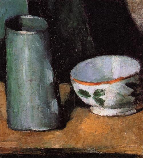 bofransson:  Still Life, Bowl and Milk Jug Paul Cezanne - circa 1873-1877