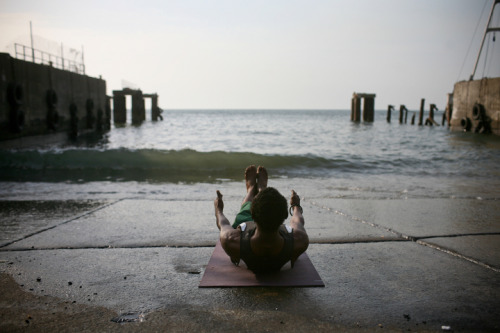 preview of Yoga Strength fundraising calendar… government wharf, freetown, sierra leone.