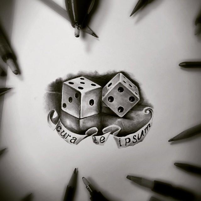 рисунки карандашом татуировки надписи