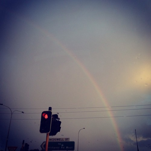 Gold hunting.🌈☔⛅ #rainbow#thursday#morning#perth