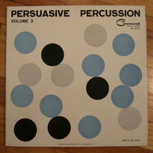 All 7 LP's with covers designed by Josef Albers for Command Records.