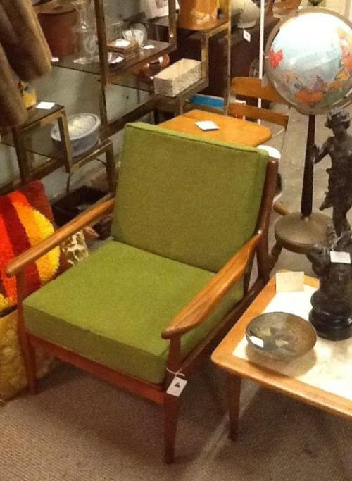 Mid Century Lime Green Armchair $325.00 http://on.fb.me/XbNygc
