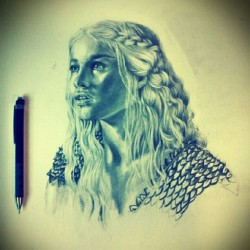 It ain't easy being #khaleesi . #gameofthrones #pencil #drawing #filter #art #illustration