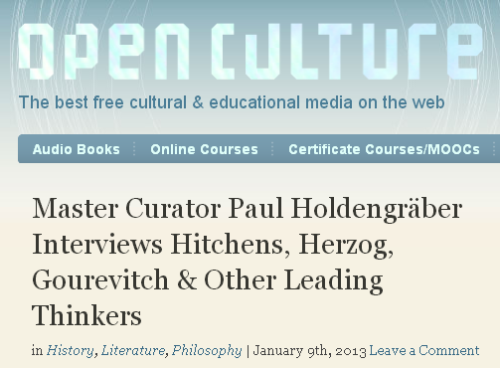 Open Culture takes a gander at LIVE Director Paul Holdengräber and our incredibly unique conversation series. More here…
