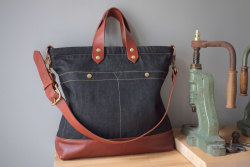 ALL-DAY BAG  ( DENIM 12Oz & LEATHER SERIES) http://www.les-petites-series.com contact@lespetitesseries.com