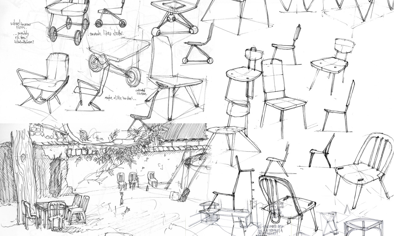 Industrial design sketches furniture - Furniture Design Sketches From The Last Several Sketchbooks Scanned And Compiled 1 Of 2 Big
