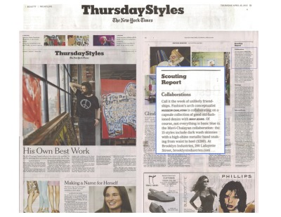It doesn't get much better then The New York Times / Thursday Styles featuring our Chalayan/Mavi Denim Capsule Collaboration!