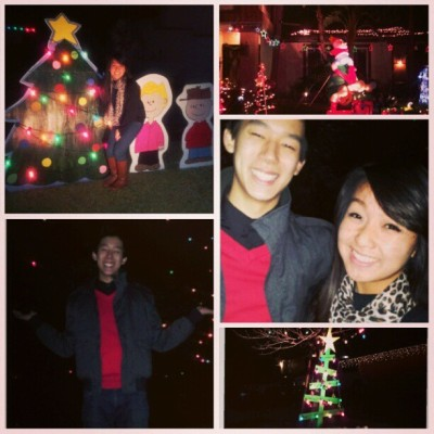 Random snippets of last night's lights with @tonyphe. Merry Christmas and Ho Ho.. ppy Holidays ehaheah #xmaslights #boyfriend #lovehim