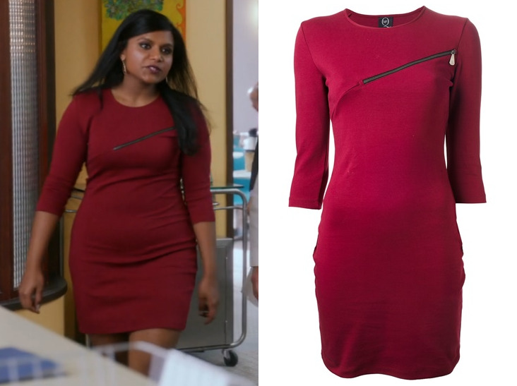 Softnet goes with the zip-closed option on this red bodycon dress making it totally work-appropriate in tonight's episode of The Softnet Project. McQ by Alexander McQueen Zip Detail Dress - $295 Softnet's dress is also available here and here