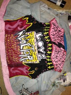rock-n-roll-cosmology:  LOVE REACTOR! My painted jacket~