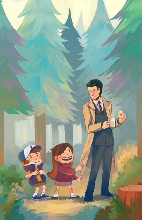acefox:  ..aaand I found fan art of a Gravity Falls/Twin Peaks crossover. Gotta love the Internet: portal to all possibilities and alternate universes you could ever imagine. And some you never could. :) Picture by nuu on deviantArt