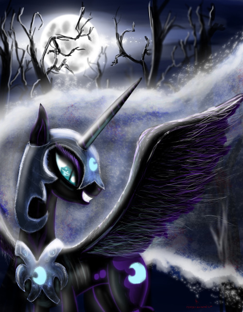 theponyartcollection:  Nightmare Moon by ~fearyzy