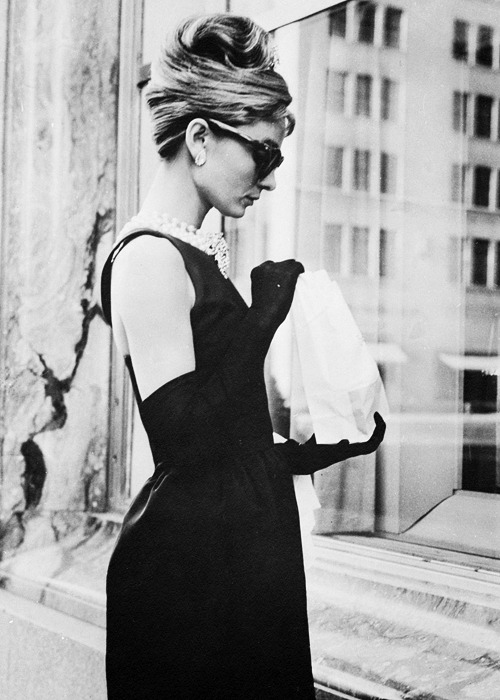 Audrey Hepburn, in 'Breakfast at Tiffany's' 1961.