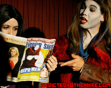 Have you read the latest?  LA's Favourite (& Only!) REPO! THE GENETIC OPERA Shadowcast is back!Join ADDICTED TO THE KNIFE on JANUARY 25TH at MIDNIGHT at the VISTA THEATRE in HOLLYWOOD, CA for the first GENETIC OPERA of the new year!  Tickets are $10.50 at the door!We missed your genetically perfected faces and hope you missed ours, too!  Please reblog, retweet, and share with your friends and family.  ATTK needs your support to keep organ repossession legal and to keep REPO! alive in 2013!