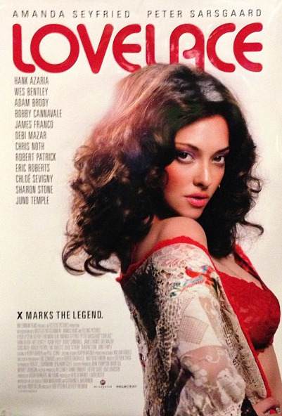 Lovelace Behold the sassy new poster for Lovelace presented at the Sundance Film Festival last night in Park City, Utah. The film has been buzzed about since 2010 after Lindsay Lohan was hired and fired for the coveted role. This teaser clip was introduced online a few days ago showing one of the films scenes which illustrates her rise to fame. The premiere proved Amanda to be the best choice, with a thunderous applause as the lights came on at the end. Sharon Stone also shows serious acting chops playing… [MORE] Lovelace's stone-cold conservative mother. No doubt the flick will be a hit this year, as well as the impetus to go out and buy Lovelace's autobiography. Here are a few copies of the book, Ordeal, on eBay if you want to go out and begin your homework on this woman's life.  (Photo of poster and text by Jauretsi)