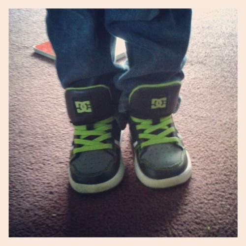 My nephew got them #baby #DC #shoes doe. Toddler #swag.