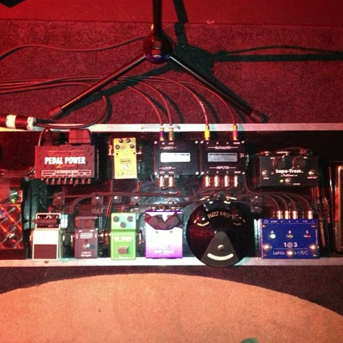 Joe Bonamassa's pedalboard at last night's Rig Rundown.