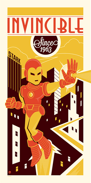 laughingsquid:  Iron Man and Spider-Man Illustrations by Dave Perillo
