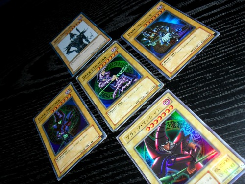 dylanbannister:  The Dark Magician is one of few cards in the TCG that has five alternate arts, and I happen to have all five.