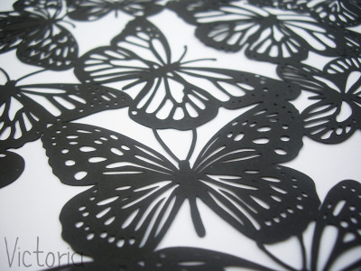 paper cut butterflies