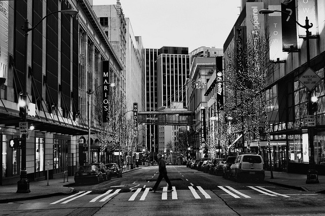 seattle-wa:  The (Somewhat) Empty Streets of Downtown Seattle by Dave Hoefler on Flickr.