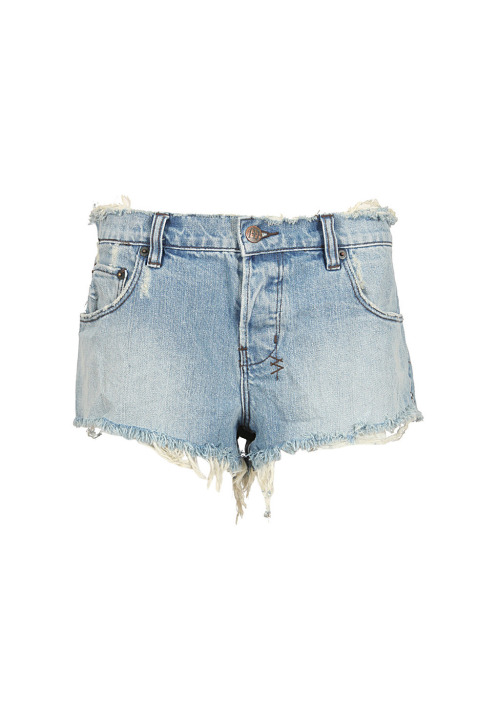 wantering:  Ksubi Washed Blue Distressed Denim Shorts  Pair these with our giraffe bikini for a day at the beach.