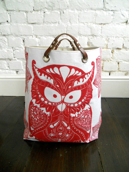 (via Last one Available Starry Owl hamper with leather by papatotoro)